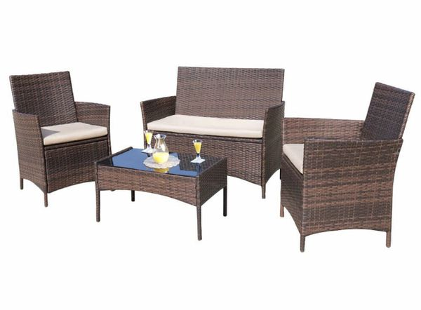 Outdoor rattan furniture - used for a week