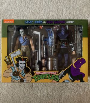 Willing to Trade this Neca Cartoon Version Casey Jones & Slashed Foot Soldier Collectible Action Figure for the Movie Casey Jones & Raphael 2 Pack for Sale in Chicago, IL