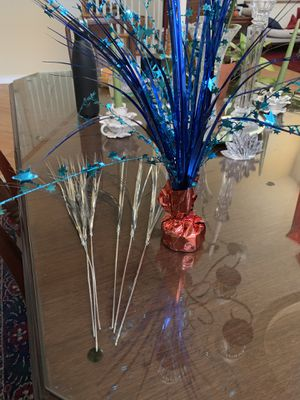 Decorations (6 silver and one red and blue) for Sale in Chula Vista, CA