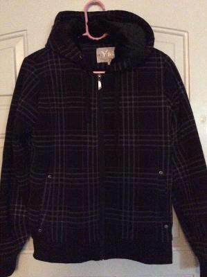 Brand New Unisex Men's Women's YMI Warm Plaid Hoodie Fur ZIP-up Jacket in package - Size M for Sale in Austin, TX
