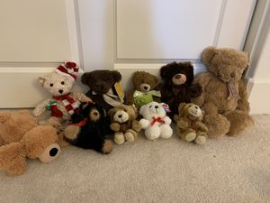 Brand new teddy bears-with tags-stuffed animals-plush for Sale in Fremont, CA