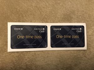2 x United Club Pass expire 5/31/2018 for Sale in Herndon, VA