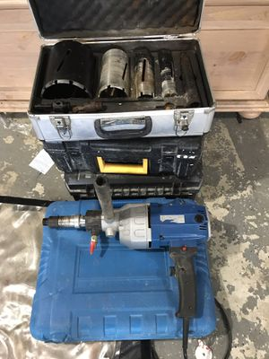 Concrete core drill an bits 1 inch to 5 inch bits like new $250 for Sale in Boonsboro, MD