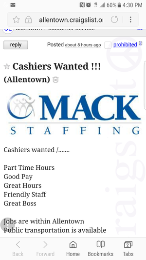 Need a job for Sale in Philadelphia, PA