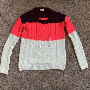 Striped Long-sleeve shirt in Size XS - Burgundy, hot pink, white for Sale in Vallejo, CA