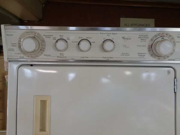 Whirlpool stack washer/dryer combo