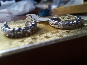 Diamond encrusted white gold earrings for Sale in Portland, OR