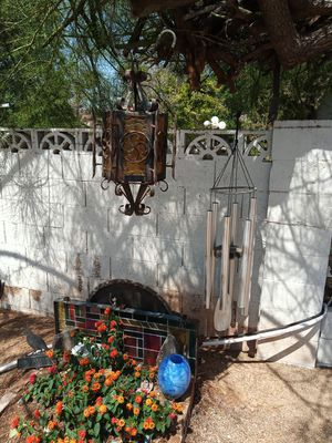 Wrought Iron Lamp and Chimes for Sale in Scottsdale, AZ
