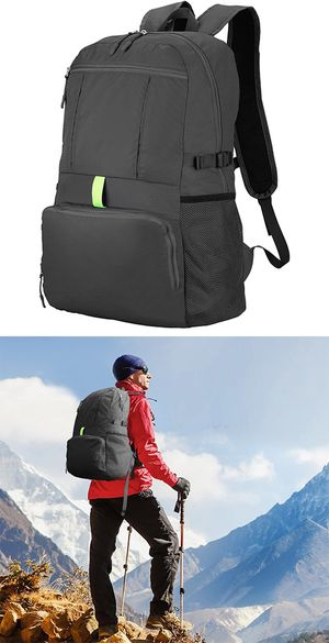 New $12 Ultra-Light (Weight 11oz) Hiking Backpack Waterproof Travel Rucksack, Double Zip Foldable (30L) for Sale in Whittier, CA