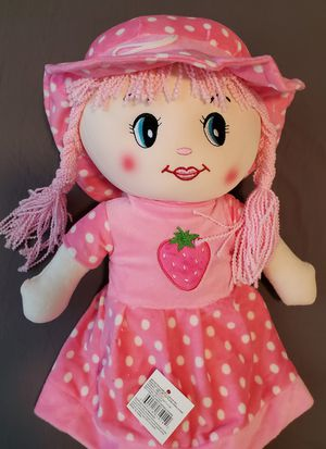 """Kids Musical Doll Plush Girl Doll Pink Red soft 23"""" tall for Sale in Ontario, CA"""