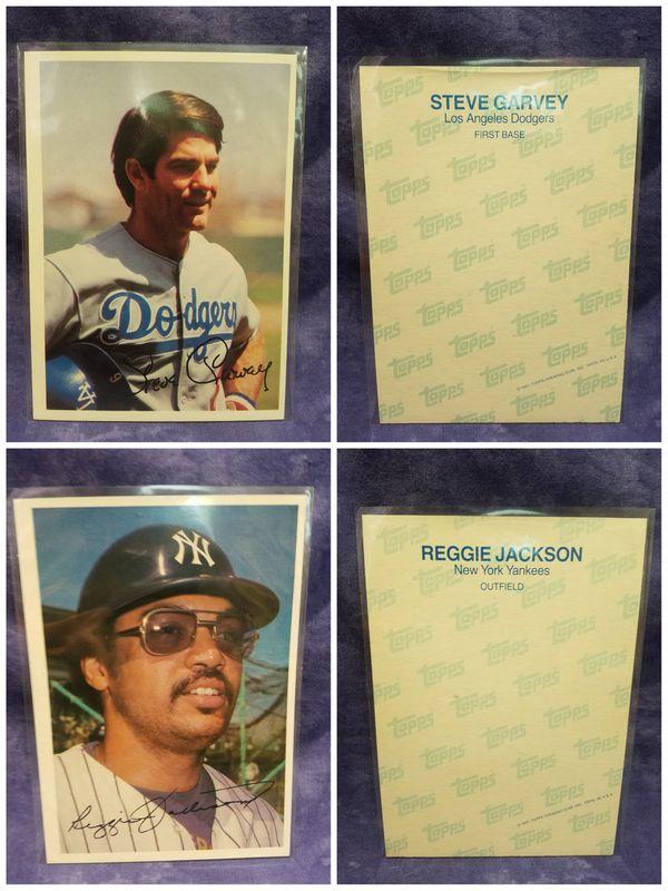1980 / 1981 Topps Giant MLB Baseball Cards, Lot of 13