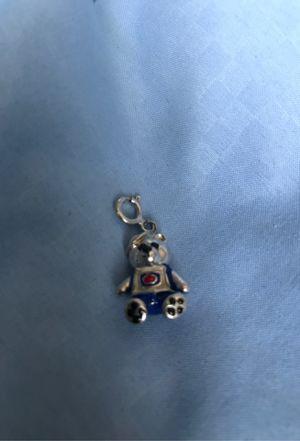 925 Sterling Silver Enameled Baseball Bear Charm for Sale in Villa Park, CA