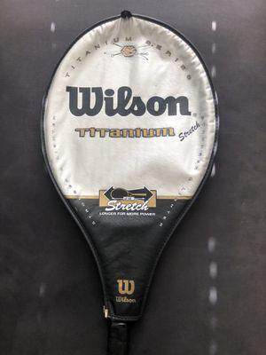 "Wilson titanium stretch tennis racket 28"" - with original zipper case for Sale in Littleton, CO"