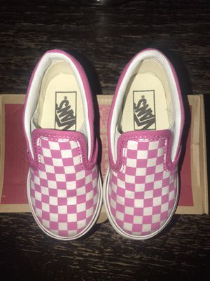 Checkerboard raspberry vans SIZE 7.0 for Sale in Coral Gables, FL