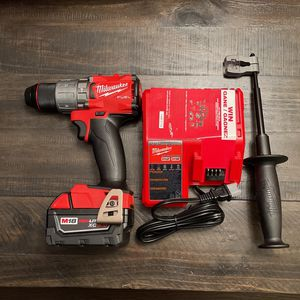 Milwaukee M18 Fuel Hammer Drill/ XC5.0 Battery/Charger for Sale in Joliet, IL
