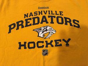 Nashville Predators Yellow Reebok XXL T-Shirt (like new ... Worn maybe twice) for Sale in Bartow, FL