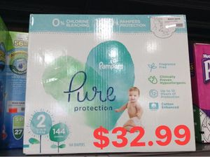 Pampers pure size 2 for Sale in Dallas, TX
