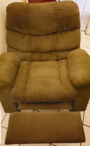 Green Corduroy Recliner Chair for Sale in Miami, FL