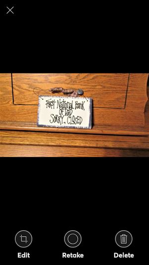 FIRST NATIONAL BANK OF DAD, SORRY, CLOSED! handmade primitives for Sale in Lynchburg, VA