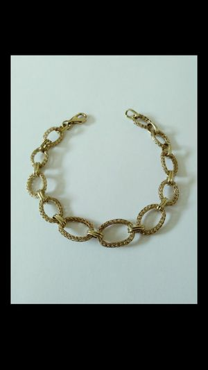 ** BEAUTIFUL ** New Solid 14k Yellow Gold Bracelet 5.7 grams 7-1/2 inch long and 12mm wide $380 OR BEST OFFER ** WE SHIP!!📦📫 ** for Sale in Phoenix, AZ