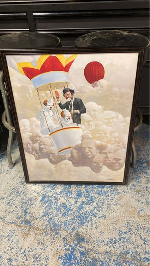 Clowns in Hot Air Balloon picture frame for Sale in Mesquite, TX