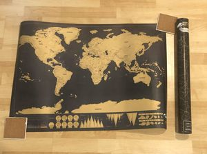 Scratch able World Map for Sale in Los Angeles, CA