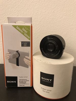 Sony Cyber-shot DSC-QX10 plus SPA-TA1 tablet attachment for Sale in San Diego, CA