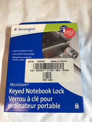Keyed notebook lock Kensington for Sale in Port St. Lucie, FL