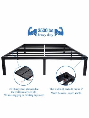New heavy duty platform bed frame FULL $80 king $100 for Sale in Columbus, OH