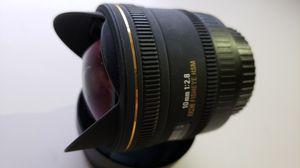 Sigma10mm f/2.8 EX DC HSM Fisheye Lens for Canon Digital Camera for Sale in Brooklyn, NY