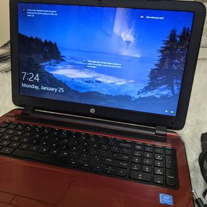 """HP Flyer Red 15.6"""" 15-f272wm Laptop PC with Intel Pentium N3540 Processor, 4GB Memory, 500GB Hard Drive and Windows 10 Home for Sale in Roseville, CA"""