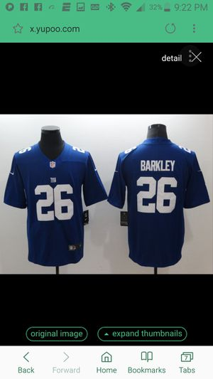 GIANTS BARKLEY JERSEY SIZE LRg n xl 100% STITCHED for Sale in Colton, CA