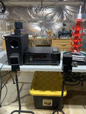 Bose Accoustimass 7 surround system with Onkyo receiver for Sale in Severn, MD