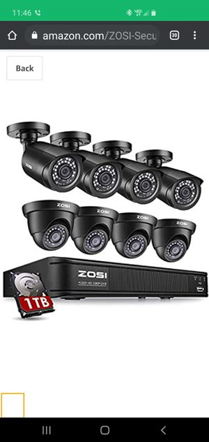 Zosi h265 8 channel security camera system for Sale in Traverse City, MI