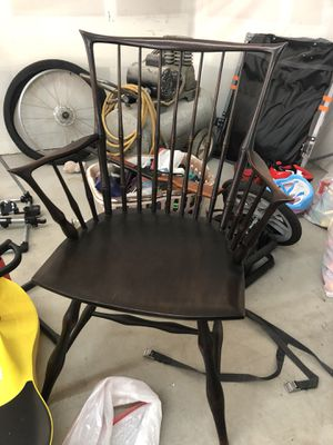 Great condition antique black Windsor chair with original Meir & Frank CO tag for Sale in West Linn, OR