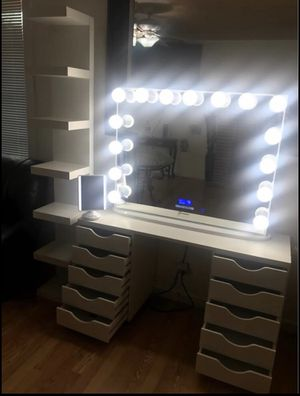 Makeup Vanity With Led Mirror for Sale in Atlanta, GA