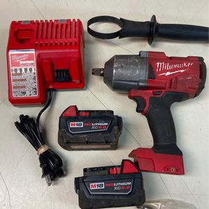 """Milwaukee 1/2"""" Impact Wrench with 2 5.0AH BATTERIES and Charger for Sale in Portsmouth, VA"""