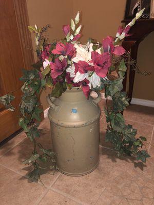 Antique milk jug w/ flowers for Sale in Harlingen, TX