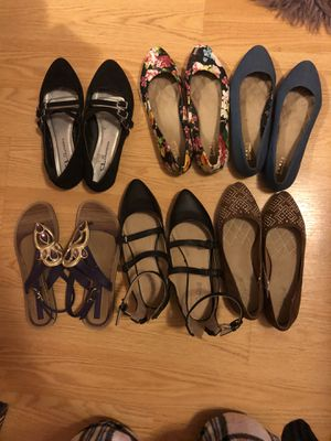 Flats, Sandals, and a pair of boots! for Sale in Corona, CA