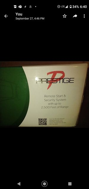 PRESTIGE Remote Start & Security System w 2,500 ft Range for Sale in New York, NY