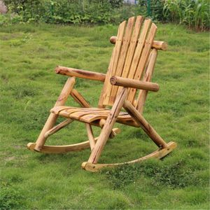 Log Rocking Chair Wooden Chair Outdoor Furniture for Backyard Patio Shady Areas for Sale in San Diego, CA