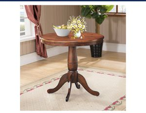 "Costway 32"" Round Pedestal Dining Table High Top Ped Table Kitchen Dining Room Walnut for Sale in City of Industry, CA"
