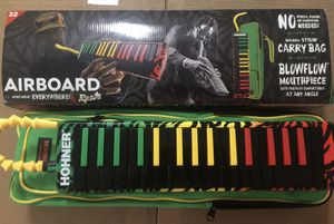 Brand New Hohner Melodica Airboard Rasta includes padded carrying bag, and flexible blowflow mouthpiece for Sale in Forest, VA