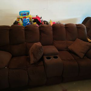 Brown Recliner Couch Set for Sale in Kennesaw, GA