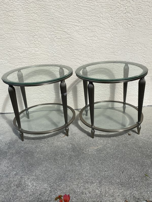 Beautiful metal end tables