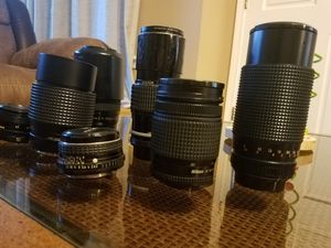Lot of 8 camera lenses for sale for Sale in Chicago, IL