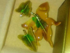 Vintage enamel brooch and earrings for Sale in Appleton, WI