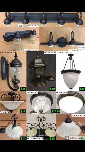 Light lights light fixtures bathroom kitchen oil rubbed bronze black update remodel home house for Sale in Farmers Branch, TX