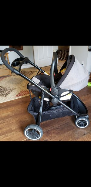 GRACO 3LITE XT Travel System strolller car seat and base all click connect for Sale in Tacoma, WA