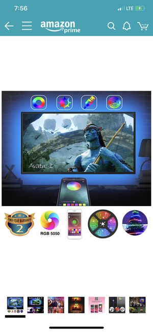 Brand new TV Backlights with App Control, AILBTON LED TV Backlight Behind 32 40-Inch 42-Inch 43-Inch HDTV Color Changing LED Strip Lights with Blueto for Sale in Fullerton, CA